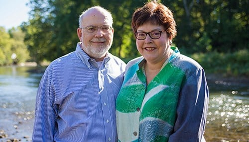 (Image of Alan and Peg Scantland courtesy of Earlham College.)