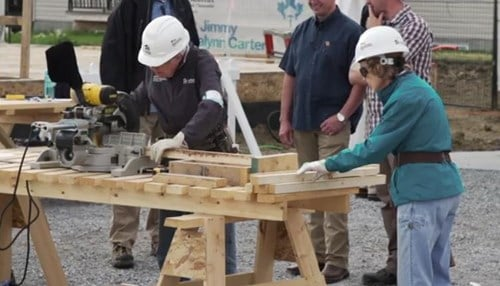 (Image of Jimmy and Rosalynn Carter courtesy of Habitat for Humanity.)