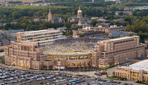 (Image of Notre Dame Stadium courtesy of the University of Notre Dame.)