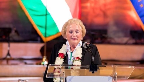 (Image of Christel DeHaan courtesy of the Indiana India Business Council.)