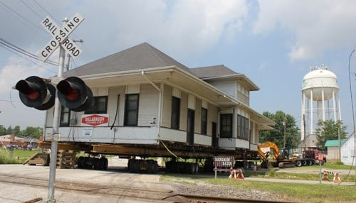 Students worked for three years to restore Valparaiso's 1912 depot.