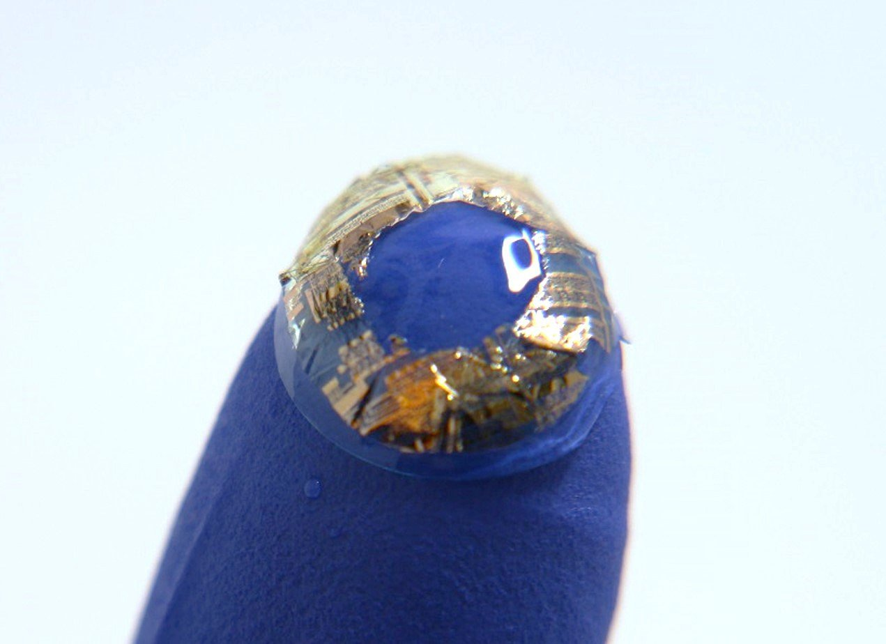 Lee's discovery enables tiny sensors and devices to be placed on soft contact lenses.