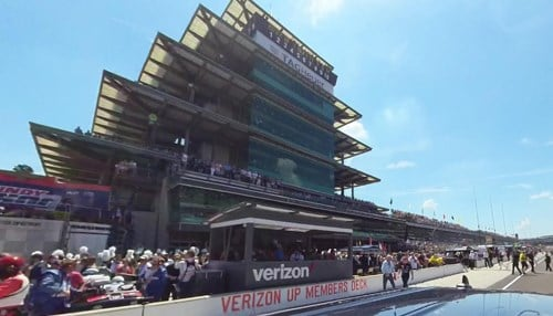 As part of the effort, an IMS vehicle carrying a Street View Camera took a lap minutes before the race began.