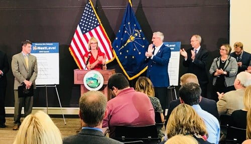 Governor Holcomb announced the Next Level Connections plan Tuesday morning in Martinsville.