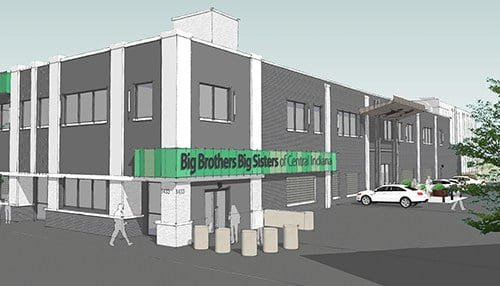Renovations at the new facility are expected to begin in mid-October. (rendering courtesy BBBSCI)