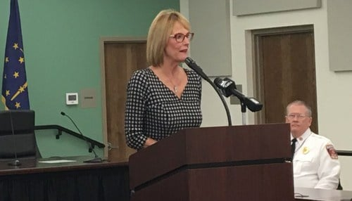 (Image of Suzanne Crouch courtesy of the state of Indiana.)