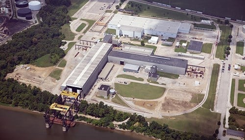 The Mount Vernon operation sits on 100 acres next to the Ohio River. (photo courtesy BWX Technologies)