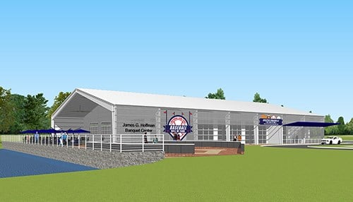 (rendering courtesy of the Greater Evansville Sports Hall of Fame)