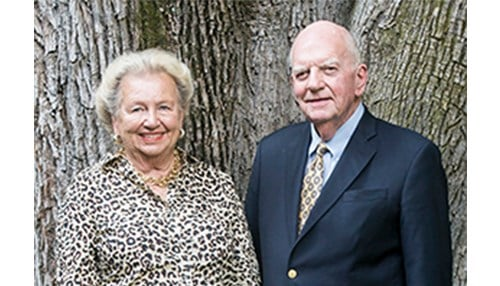 Nancy and John Peterson (photo courtesy of Franklin College)