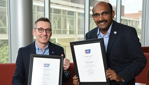 Andrea Bonetto (left) and Janaiah Kota (photo courtesy IU School of Medicine)