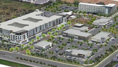 (Rendering of The Yard at Fishers District courtesy of Thompson Thrift.)
