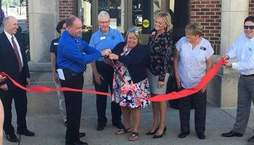 (Image of mid-September ribbon cutting at Fusion 54 courtesy of the city of Crawfordsville.)