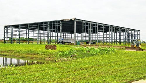 The company will set up shop in a shell building still under construction. (photo courtesy of the Daily Journal)
