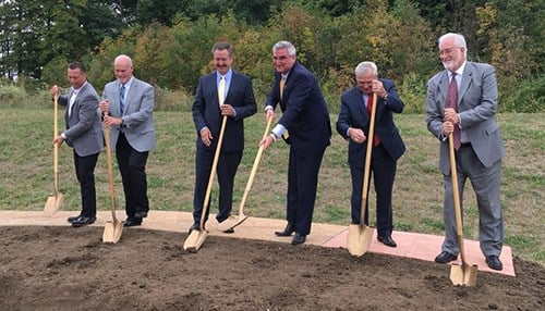 Sweetwater broke ground on the expansion last month. (photo courtesy of Governor Eric Holcomb's office)