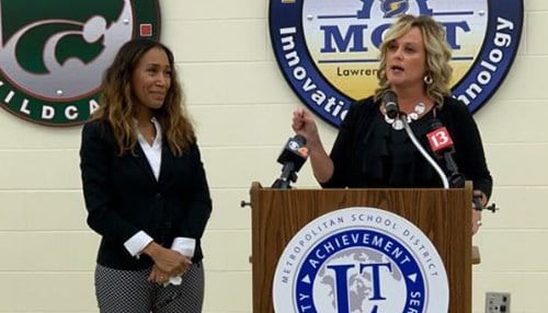 (L to R) Tamara Markey and State Superintendent Jennifer McCormick