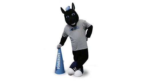 Saint Mary-of-the-Woods College mascot Onyx