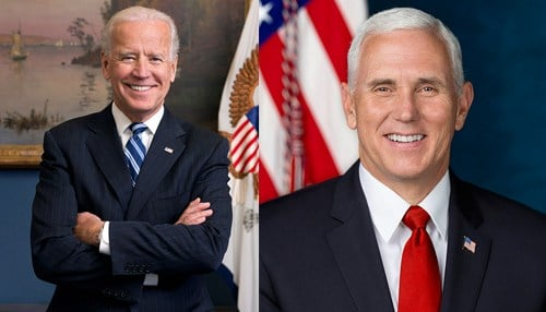 Biden will be at a Hammond event, while Pence will appear in Indianapolis.