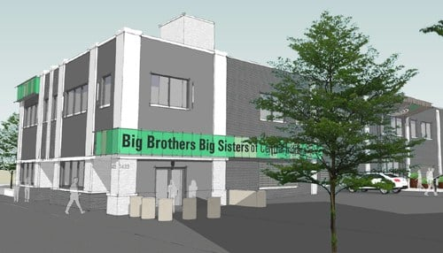 (Rendering courtesy of Big Brothers Big Sisters of Central Indiana.)