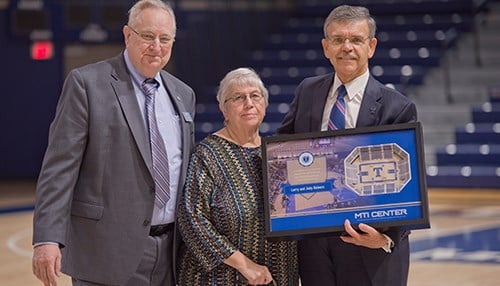 Larry & Judy Reiners with Trine President Earl Brooks II