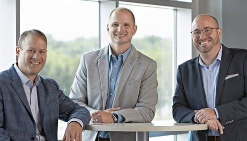 Mend Medical executive team (left to right): Bryce Isch, Ben Joseph and Seth Nash.
