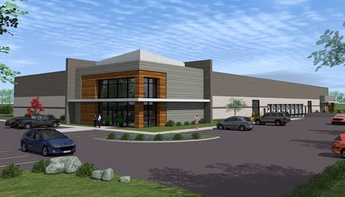 (Rendering of shell building supplied by Kosciusko County EDC.)
