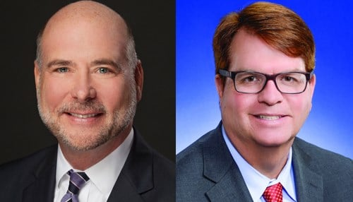 (Image of Brian Bosma [pictured left] courtesy of the Indiana House Republicans and image of Phil GiaQuinta [pictured right] courtesy of the Indiana House Democrats.)