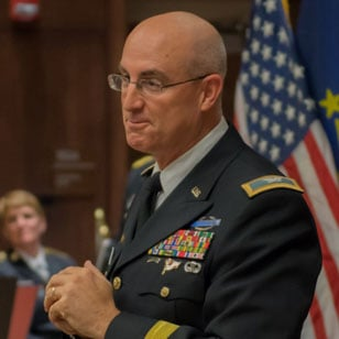 Indiana National Guard Brig. Gen. Robert D. Burke