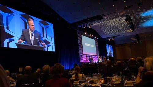 Inside INdiana Business Host Gerry Dick was a presenter at Tuesday's event.