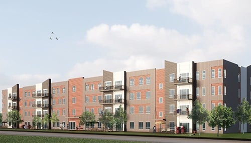 Rendering of Union at Washington. (rendering courtesy of City of Kokomo)