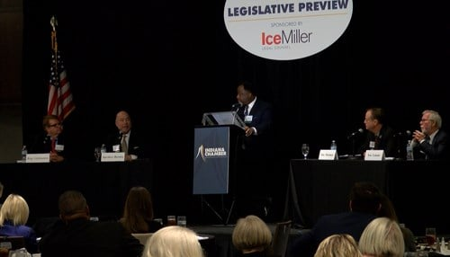 Legislative leaders previewed the session at Monday's annual Chamber Luncheon.