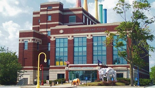 Science Central is located in the former City Light and Power Plant in Fort Wayne.