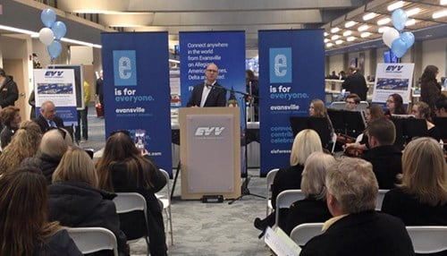 Officials celebrated the renovations this week. (photo courtesy of Evansville Regional Airport)