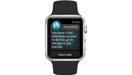 The Apple Watch will track time spent sitting or standing, number of steps and even heartrate.