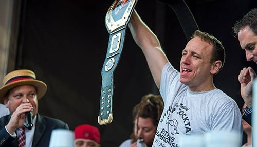 The St. Elmo's Shrimp Cocktail Eating Contest will feature Joey Chestnut. (photo courtesy of Indiana Sports Corp.)