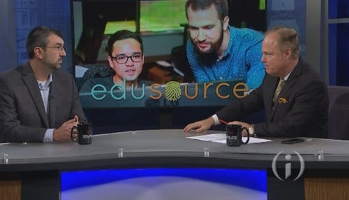 Jason Beutler (left) is the co-founder and president of EduSource.