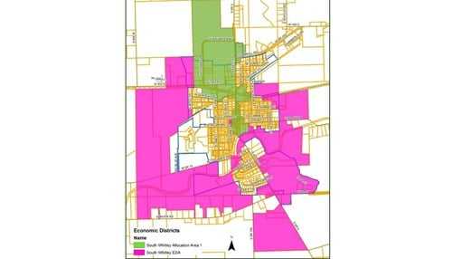 The TIF district includes much of downtown South Whitley.