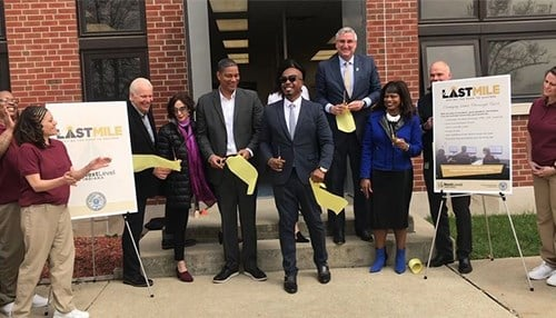 Officials cut the ribbon on The Last Mile's first program at the Indiana Women's Prison in April.