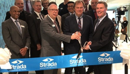 Strada cut the ribbon during a Thursday ceremony.