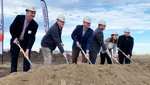 Governor Eric Holcomb joined officials for the groundbreaking ceremony.