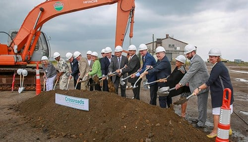Officials broke ground on the project in August. (photo courtesy of Digital Crossroads)