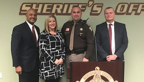 pictured L-R-  Curtis Hill, Heather Barajas, Ryan Needham and Andrew Salter