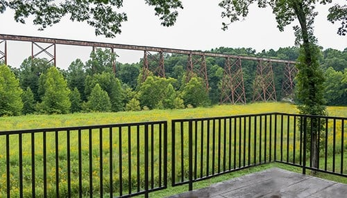 The Tulip Trestle (also known as the Viaduct) in Greene County is one of the world's longest bridges of its type
