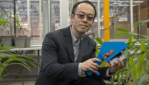 Jian Jin, an assistant professor in Purdue's Department of Agricultural and Biological Engineering, is one of the recipients. (photo courtesy of Purdue University)
