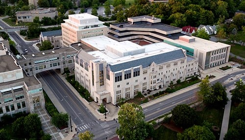 The Kelley School of Business and School of Public and Environmental Affairs on the IU Bloomington campus. (photo courtesy Indiana University)
