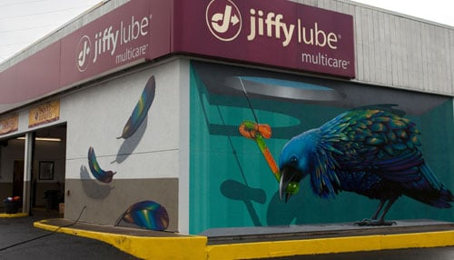 Photo of Castleton mural courtesy of Jiffy Lube Indiana