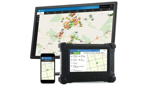 "Solinftec says hardware, such as computers on-board farm equipment, analyze information to help farmers ""use the data better."""