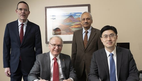 Pictured L-R- George Wodicka, Jay Hess, Anantha Shekhar Mung Chiang