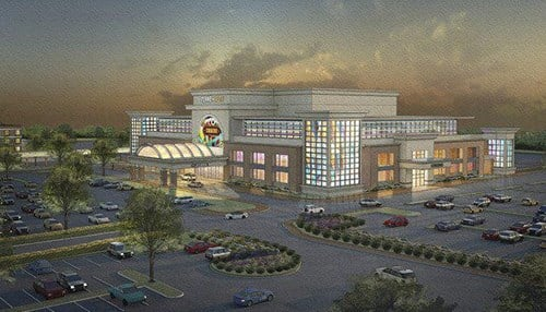 Spectacle is looking to move one of the licenses to Vigo County for a new casino. (rendering courtesy of Spectacle Entertainment)