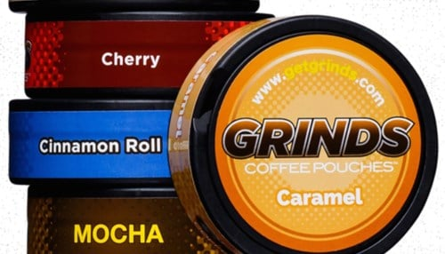 Grinds produces flavored coffee pouches infused with vitamins.