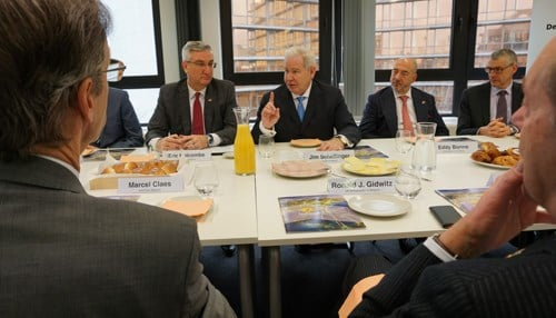 The stop in Belgium included a chief executive officer roundtable.
